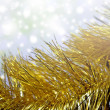 Christmas background of tinsel. — Stock Photo
