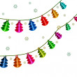 Christmas lantern. Garland. — Stock Photo