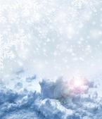 Background of snow. Winter landscape — Stock Photo