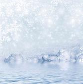 Fond de neige. paysage d'hiver — Photo
