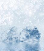 Hintergrund des schnees. winterlandschaft — Stockfoto