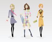 Fashion Models — Stock Vector