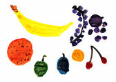Fruit Children's Drawing — Stock Photo