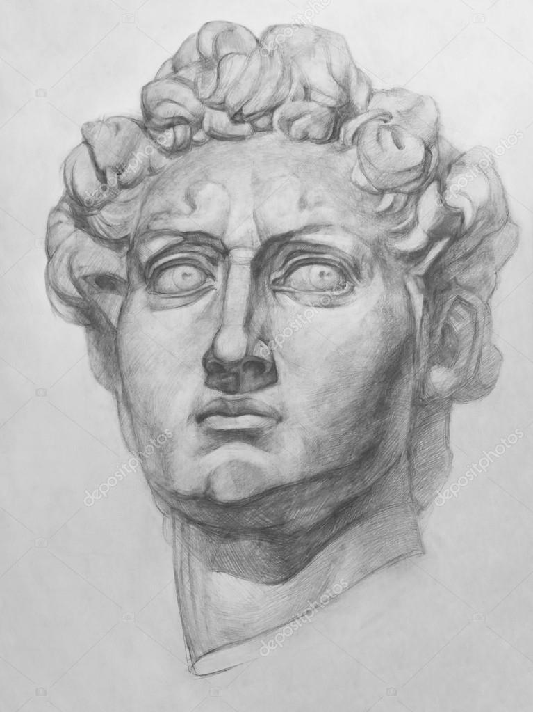 复制副本石膏由米开朗基罗的大卫雕像