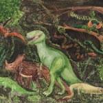 Variety of Dinosaurs Children's Drawing — Stock Photo