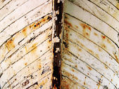 Boat bow of an old rusted small boat. — Stock Photo