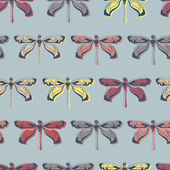 Seamless pattern with dragonfly — Stock Vector