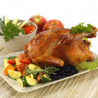 Crispy whole chicken — Stock Photo