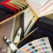 Stock Photo: Coloured textiles