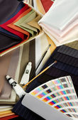 Coloured textiles — Stock Photo