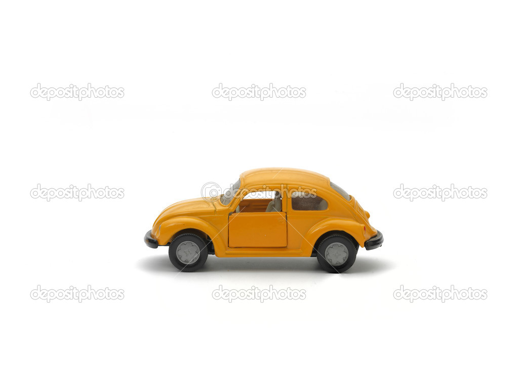 Yellow model car on white background — Stock Photo #13176687