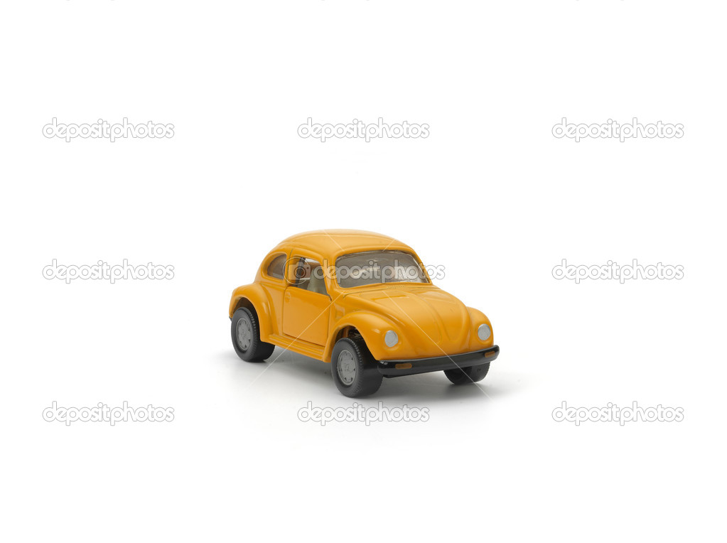 Yellow model car on white background — Stock Photo #13176693