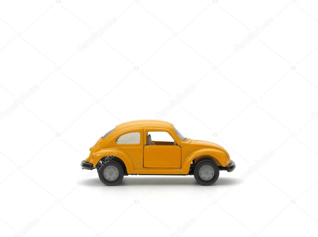 Yellow model car on white background  Stock Photo #13176697