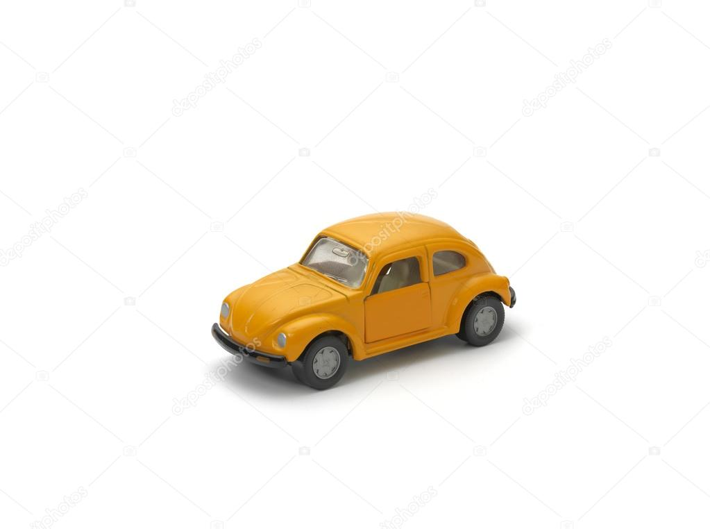 Yellow model car on white background — Stock Photo #13176715