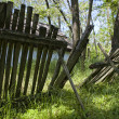 Dilapidated fence - Stock Photo