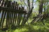 Dilapidated fence — Stock Photo