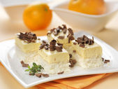Cream cheese with orange mousse — Stock Photo