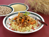 Couscous with lamb — Stock Photo