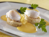 Poached eggs — Stock Photo