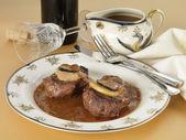 Beefsteak Rossini style — Stock Photo