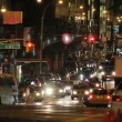 New York City street traffic, night shot — Stock Video