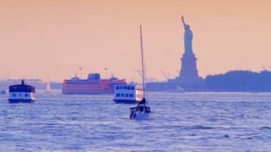 Statue of Liberty, New York — Stock Video