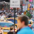 Unrecognizable crowd, New York City — Stock Video