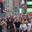 Stock Video: Crowd, Time Square, New York