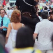 Crowd on Time Square — Stock Video