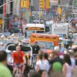 Stock Video: Crowded Street, New York