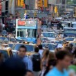 Stock Video: Traffic jam on Time Square