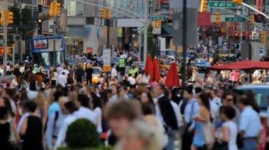 Crowd, New York City — Stock Video