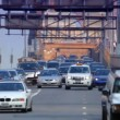 Stock Video: Brooklyn Bridge Traffic