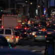 Traffic jam, evening, New York City - Stock Photo