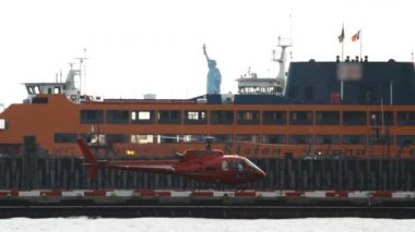 Downtown Manhattan Heliport — Stock Video