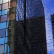 Stock Video: Close-up, corporate buildings, NYC