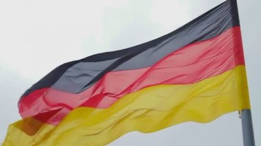 German flag waving — Stock Video
