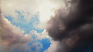 Cloudy sky — Stock Video