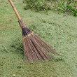 Sweeping lawns. — Stock Photo