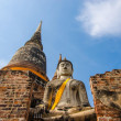 Buddha statues and temples. — Stock Photo