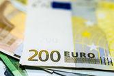 Dwustu euro pieniądze — Zdjęcie stockowe
