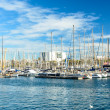 Stock Photo: Yachts at port vell
