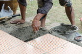 Mechanic Floor tiles — Stock Photo
