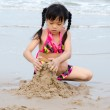 Children playing in sand — Stock Photo #44147517