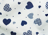 Heart fabric pattern — Stockfoto