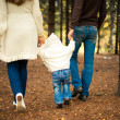 Royalty-Free Stock Photo: Family walking in the woods