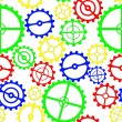 Gears colorful — Stockvektor