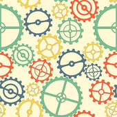 Seamless pattern. colorful gears — Stock Vector