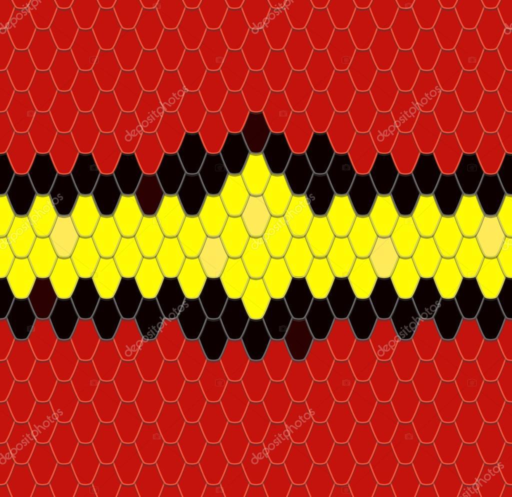 Coral Snake Skin, Seamless Pattern