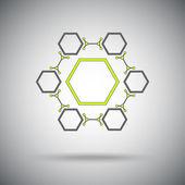 Hexagonal connection — Stock Vector